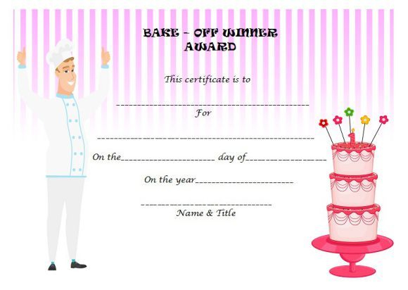 Bake Off Winner Certificate | Cake Competition, Funny Awards With Regard To Best Bake Off Certificate Templates