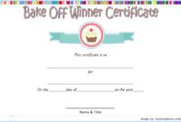 Bake Off Winner Certificate Template Free 2   Certificate pertaining to Bake Off Certificate Template