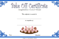 Baking Contest Certificate Template Free 2 | Certificate pertaining to Bake Off Certificate Templates