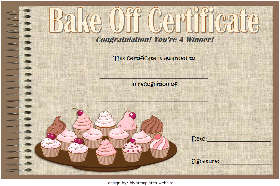 Baking Contest Certificate Template Free 4 | Baking Contest Pertaining To Unique Certificate For Baking 7 Extraordinary Concepts