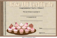 Baking Contest Certificate Template Free 4 | Baking Contest throughout Bake Off Certificate Templates