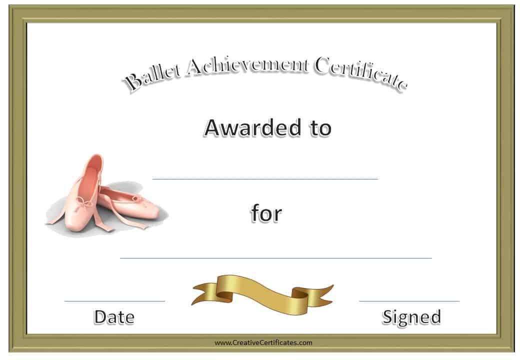 Ballet Certificates | Free Printable Certificate Templates pertaining to Ballet Certificate Template
