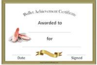 Ballet Certificates | Free Printable Certificate Templates throughout Ballet Certificate Templates