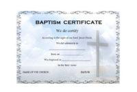 Baptism Certificate Template 14 In 2020   Certificate pertaining to Baptism Certificate Template Word 9 Fresh Ideas