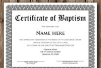Baptism Certificate Template – Microsoft Word Editable with regard to Baptism Certificate Template Word 9 Fresh Ideas