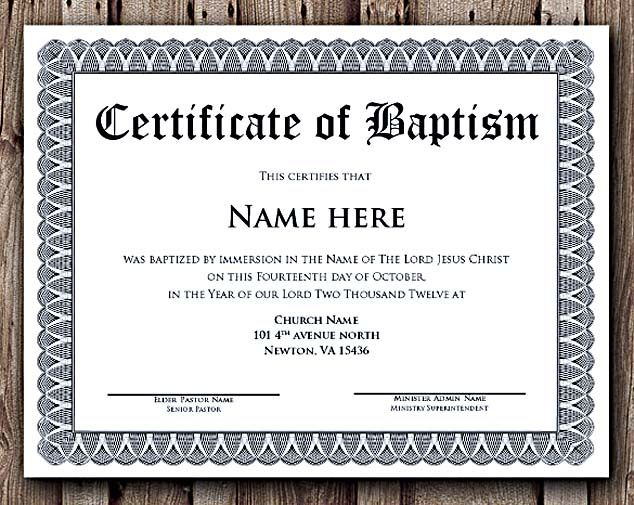 Baptism Certificate Word Editable Template , Selecting with regard to Baptism Certificate Template Word Free