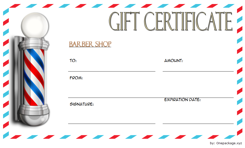 Barber Gift Voucher Template Free 1 In 2020   Barber Gifts within Barber Shop Certificate Free Printable 2020 Designs