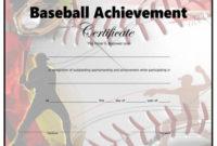 Baseball Certificate – Free Printable – Allfreeprintable with Editable Baseball Award Certificates