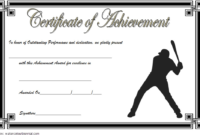 Baseball Certificate Of Achievement Free Printable 7 In 2020 with Baseball Achievement Certificate Templates