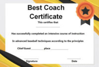 Baseball Coach Certificate Template Archives – Template Sumo within Best Coach Certificate Template