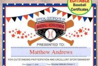 Baseball Hitting Software #Baseballcamps   Baseball Award inside Editable Baseball Award Certificates