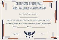 Baseball Mvp Certificate: 10 Templates To Customize Online throughout Mvp Certificate Template