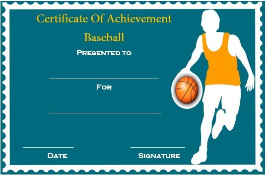 Basketball Achievement Certificate Template | Certificate in Best Basketball Achievement Certificate Templates