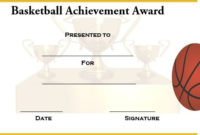 Basketball Achievement Certificate Templates | Certificate in Basketball Achievement Certificate Templates