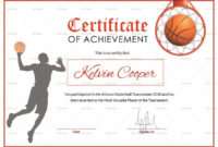 Basketball Award Achievement Certificate Template For within Best Basketball Achievement Certificate Templates