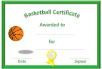 Basketball Award Certificate To Print | Basketball Awards within Best Basketball Achievement Certificate Templates