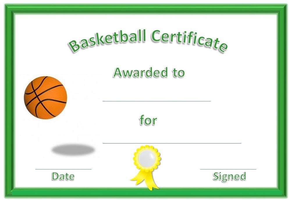Basketball Award Certificate To Print   Basketball Awards Within Best Basketball Achievement Certificate Templates