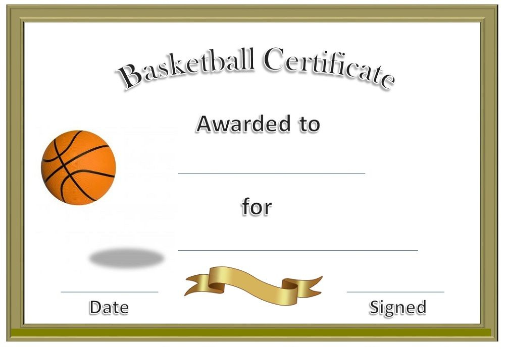 Basketball Award Certificate To Print | Basketball Awards Within Best Download 7 Basketball Participation Certificate Editable Templates