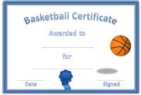 Basketball Award Certificate To Print | Free Basketball regarding Best 7 Basketball Achievement Certificate Editable Templates