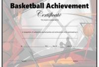 Basketball Certificate – Free Printable – Allfreeprintable for Fresh Basketball Certificate Templates