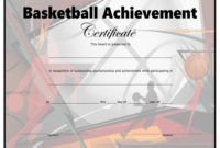 Basketball Certificate – Free Printable – Allfreeprintable pertaining to Unique Basketball Tournament Certificate Templates