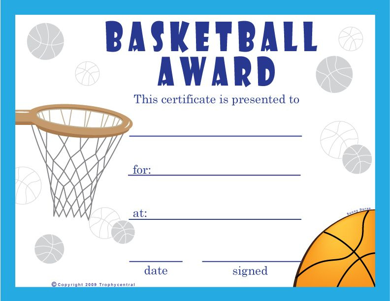 Basketball Certificate Template In 2020 | Free Basketball for Basketball Certificate Templates