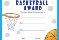 Basketball Certificate Template In 2020 | Free Basketball for Best Basketball Achievement Certificate Templates