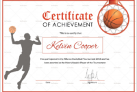 Basketball Certificate Template Unique Athletic Certificate pertaining to Best Basketball Certificate Template