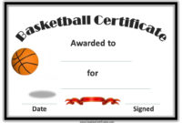 Basketball Certificates | Basketball Awards, Basketball intended for Basketball Achievement Certificate Templates
