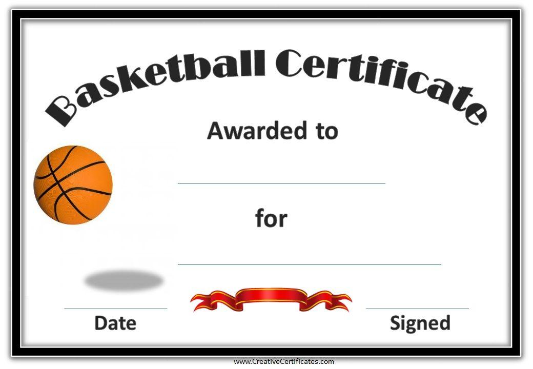 Basketball Certificates   Basketball Awards, Basketball Intended For Basketball Achievement Certificate Templates
