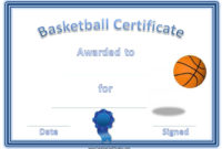 Basketball Certificates | Free Basketball, Basketball Awards throughout 7 Basketball Achievement Certificate Editable Templates