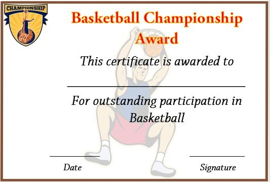 Basketball Championship Certificate Template | Certificate In Basketball Tournament Certificate Templates