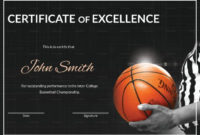 Basketball Excellence Certificate Template With Regard To inside Basketball Gift Certificate Template