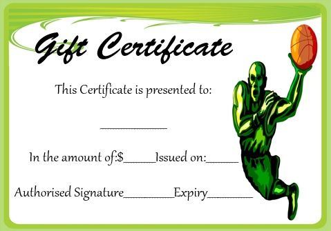 Basketball Gift Certificate Template | Corporate Gifts regarding Fresh Basketball Gift Certificate Template