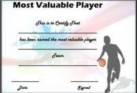 Basketball Mvp Certificate Template | Certificate Templates regarding Best Mvp Award Certificate Templates Free Download