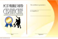 Basketball Mvp Certificate Template Free 1 Di 2020 pertaining to Basketball Mvp Certificate Template