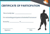 Basketball Participation Certificate: 10+ Free Downloadable within Best Basketball Tournament Certificate Template Free