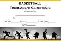 Basketball Tournament Certificate Template | Certificate For Fresh 10 Certificate Of Championship Template Designs Free