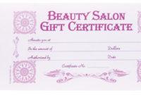 Berkeley Beauty Company Inc Beauty Salon Gift Certificate in Beauty Salon Gift Certificate