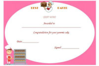 Best Baker Certificate | Cake Competition, Cake, Bake Off in Bake Off Certificate Templates