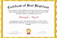 Best Boyfriend Award Certificate Elegant Certificate Of Best within Best Best Boyfriend Certificate Template