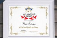 Best Boyfriend Award Editable Template Editable Best Boyfriend Award  Druckbare Beste Boyfriend Vorlage Pdf Instant Download 066-42 inside Best Boyfriend Certificate Template