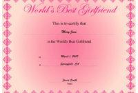 Best Boyfriend Certificate Template New Free Printable with regard to Best Certificate For Best Boyfriend 10 Sweetest Ideas
