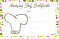 Best Chef Certificate Template Free Printable 1 In 2020 regarding Fresh Fishing Certificates Top 7 Template Designs 2019