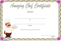 Best Chef Certificate Template Free Printable 3 In 2020 with Unique Certificate Of Cooking 7 Template Choices Free