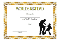 Best Dad In The World Certificate Free 2 | Best Dad, Worlds in Fresh Best Dad Certificate Template