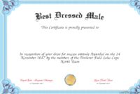 Best Dressed Award Certificate – Fashion Dresses throughout Best Dressed Certificate