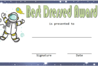 Best Dressed Award Certificate Template Free (Space Theme within Fresh Best Dressed Certificate