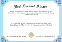 Best Dressed Award Certificates Printable | Activity Shelter pertaining to Best Best Dressed Certificate Templates