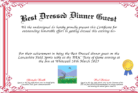 Best Dressed Award Certificates Printable | Activity Shelter with regard to Best Dressed Certificate Templates